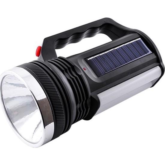 Yopigo 2836-T Güneş Enerjili Şarjlı Aydınlatma Cihazı 1W+16 LED Çift Yönlü El Feneri