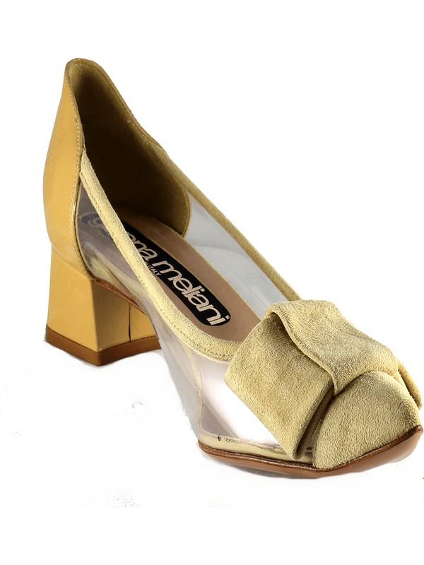 Gianna Melani Kadın Topuklu Ayakkabı Toz Süet Vi̇ni̇l 20121