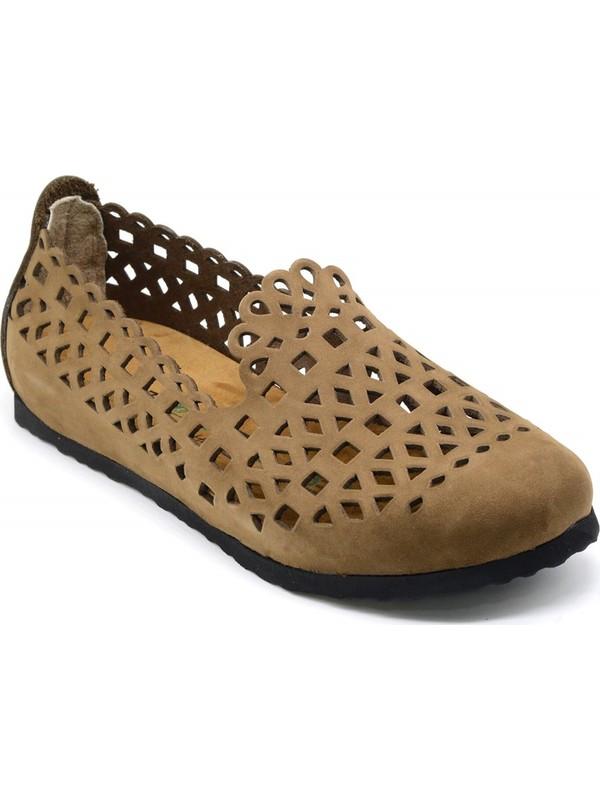 Forelli 23230 Kadın Kum Nubuk Mantar Ayakkabı