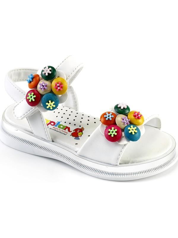 Kaptan Junior Kız Çocuk Bebek Ayakkabı Bsnk 805 Beyaz