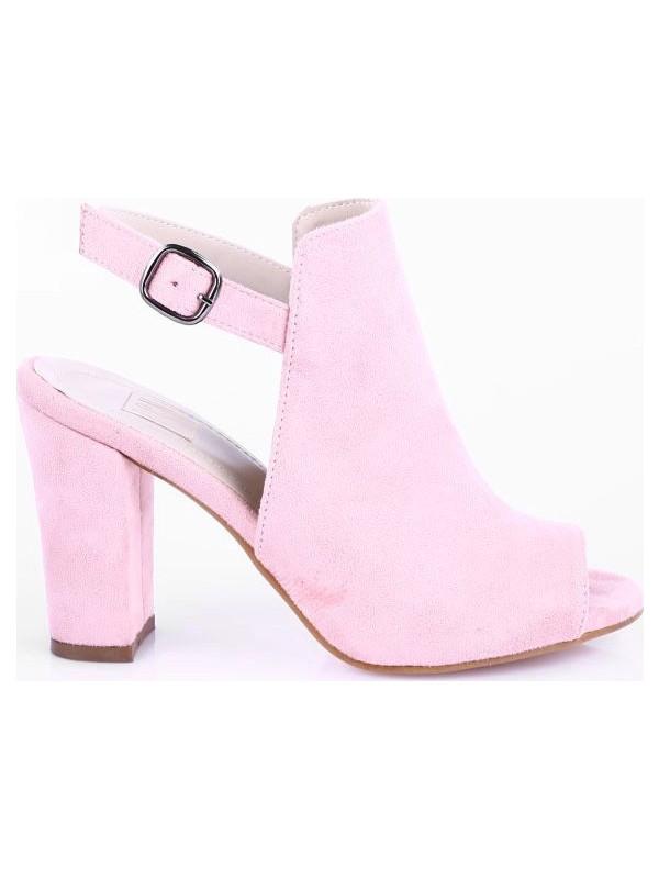 Dgn 1305 Kadın Burnu Açık Bilekten Bağlı Lita Topuklu Sandalet 20Y