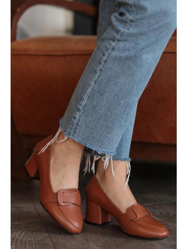 Mio Gusto Romy Taba Topuklu Ayakkabı
