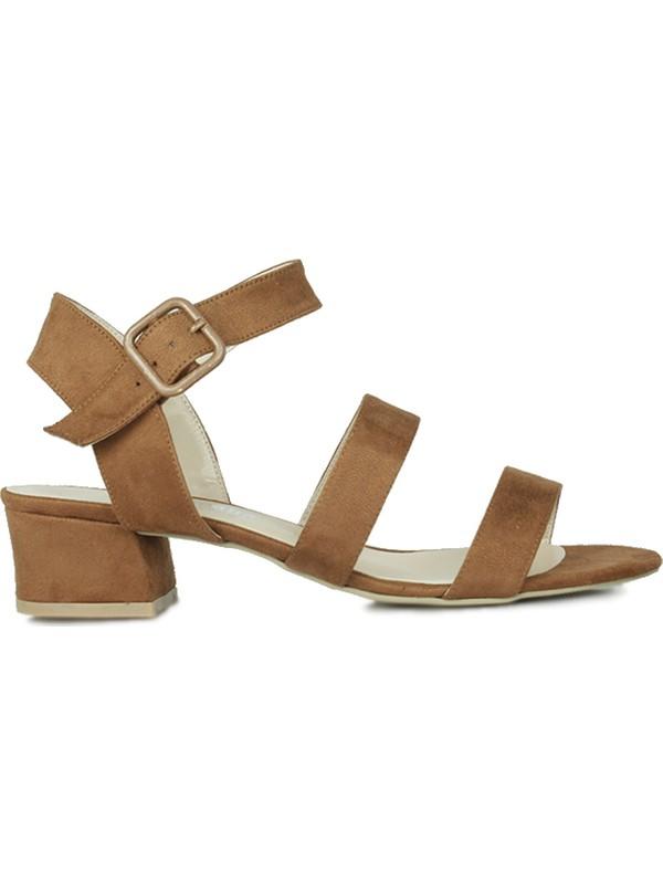 Loggalin 520036 167 Kadın Taba Süet Topuklu Ayakkabı
