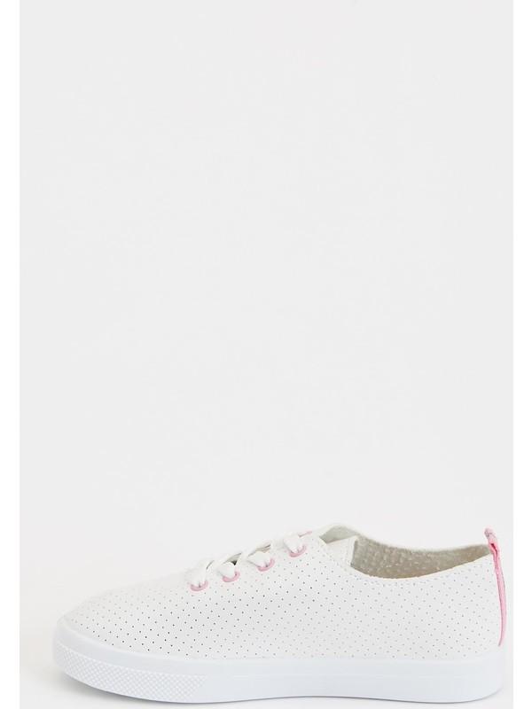 DeFacto Kız Çocuk Bağcıklı Sneakers Ayakkabı N6219A620AU