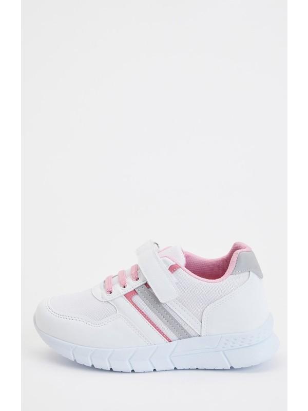 DeFacto Kız Çocuk Bağcıklı Cırtcırtlı Spor Ayakkabı S1049A620AU