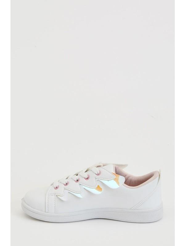 DeFacto Kız Çocuk Bağcıklı Sneaker Ayakkabı N8911A620AU