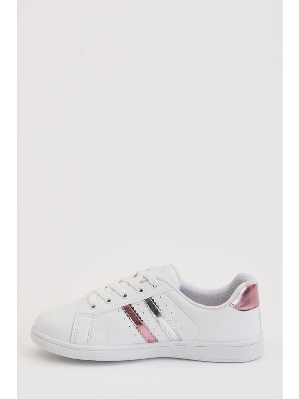 DeFacto Kız Çocuk Bağcıklı Sneaker Ayakkabı N8912A620AU