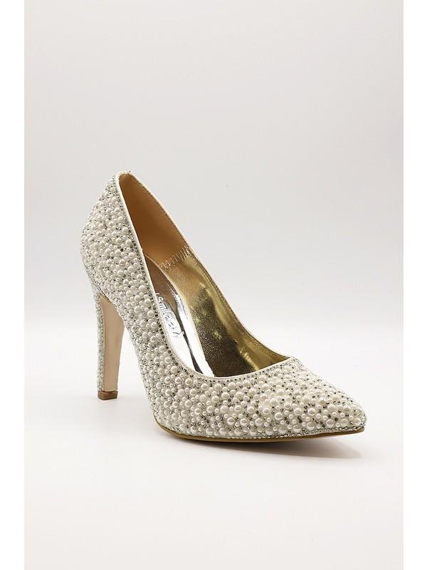 La Scada Mr5238 Beyaz Kadın Abiye Ayakkabı