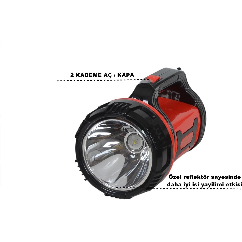 Yopigo YP-6680 10W Uzun Menzil Avcı Kamp Lambası Şarjlı El Fiyatı