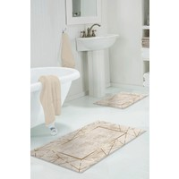 Colizon 50 x 80 cm - 40 x 50 cm Dijital Banyo Halısı Kaymaz Tabanlı Klozet Takımı 2'LITYKDB-2400-K