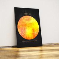 Javvuz Güneş Metal Poster