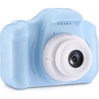OEM Cmr-9 Çocuk Kamerası Video Hafıza Kartlı Dijital Oyun Kamerası Mavi