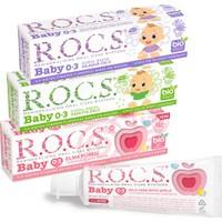 Rocs Baby Diş Macunu 3'lü Karma Set - 45 gr x 3 Adet