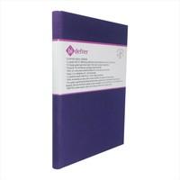 Bi Defter Kumaş Ciltli Defter El Yapımı El Dikişi İplik Dikiş Cilt Mor Kumaş 200 Sayfa Noktalı 10 x 14 cm