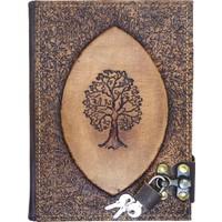 Notopelle Kilitli Deri Defter - Hayat Ağacı (Sırdaş)