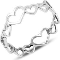 Zuk Collection Gümüş Kalpli Tamtur Taşsız Yüzük