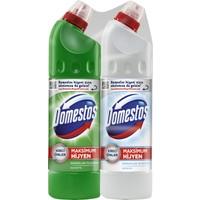 Domestos Dağ Esintisi Yoğun Kıvamlı Çamaşır Suyu 750 ml + Kar Beyazı 750 ml 2'li Paket