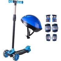 Cool Wheels Mavi Twist Işıklı Scooter Kask Seti