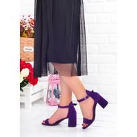 Ayakland 2013-05 Süet 7 cm Topuk Kadın Sandalet Ayakkabı