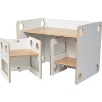 Minera 0 - 6 Yaş Saka Montessori Çocuk Oyun, Çalışma, Aktivite Masa ve Sandalyesi