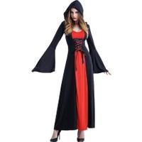 Kostümce Gotik Prenses Kostümü Kırmızı