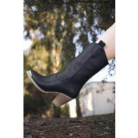 Riccon Cilt Siyah Kadın Çizme 0012301