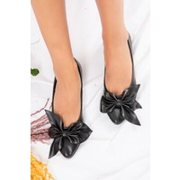 Fox Shoes Siyah Kadın Babet H726810509