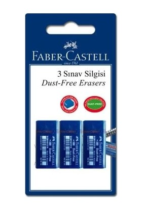 Faber-Castell Blister 48 Sınav Silgisi 3'lü
