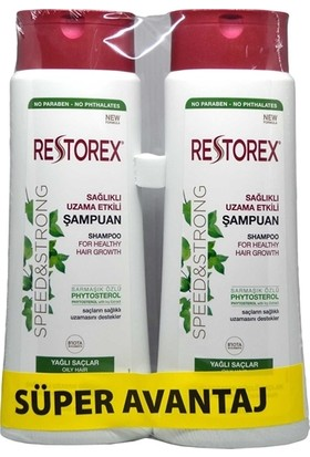 Restorex Yağlı Saçlar Için Şampuan 500 ml 2'li