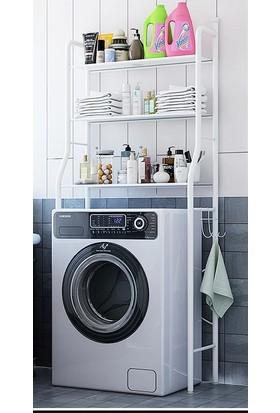 Larem Mobilya Çamaşır Makine Üstü Dolap Raf Banyo Dolap Makina Üstü Düzenleyici