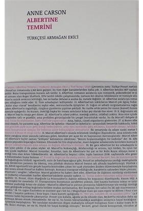 Albertine Temrini - Anne Carson