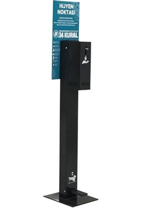Panel Kabi̇n Dezenfektan Standı Ayak Pedallı Hijyen Istasyonu