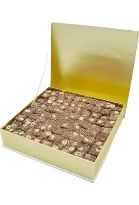 Selimzade Sütlü Kahveli Fındıklı Lokum 750 G (Sedef Kutu)