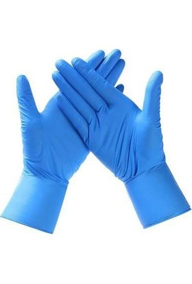 Ntı Nti-Glove Mavi Latex Eldiven Koruyucu Kaydırmaz Dokulu 50LI L Beden