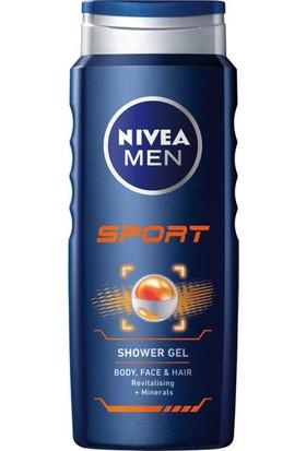 Nivea Duş Jeli 500 ml Men Sport 6'lı Paket