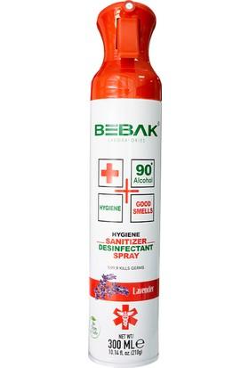 Bebak Dezenfektan Antibakteriyel Hava Temizleme Spreyi Lavanta 300 ml
