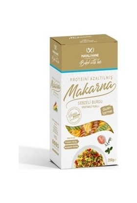 Mayalı Hane Düşük Proteinli Sebzeli Burgu Makarna 250 gr