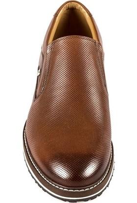 Fosco Bağcıksız Taba Deri Günlük Ayakkabı 8566 45