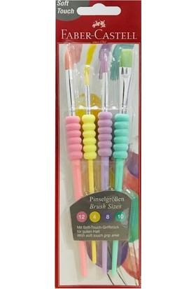 Faber-Castell Soft Touch Fırça Seti Pastel Renkler 4'lü
