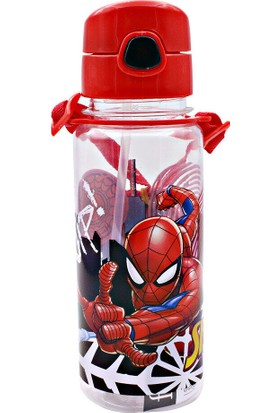 Spiderman Plastik Matara Suluk Kırmızı