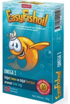 Easy Fish Oil Kids Omega 3 30 Jel Tablet Balık Yağı