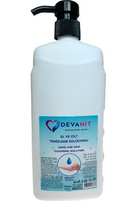 Devanit 1 Adet, 1000 ml Solüsyon, Devanit Dezenfektan-El Temizleme Jeli