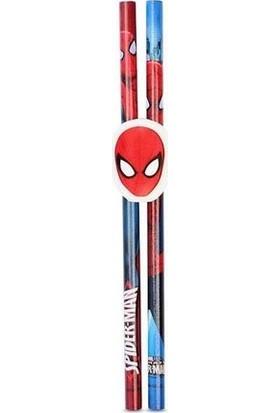 Cem Spiderman 2'li Kurşun Kalem Seti + Silgi
