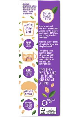 Better Body Foods Oatsome Yulaf Sütü 1 Lt