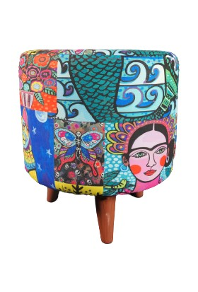 Çözüm Mobilya Puf Frida Desenli