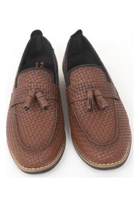 Suna Kahverengi Erkek Ayakkabı Suni Deri