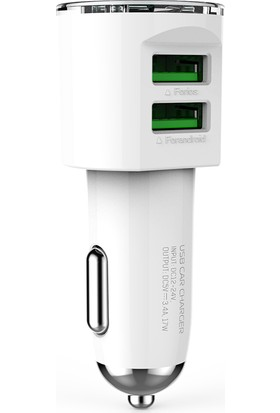 X-Voora DL-C29 3.4A Çift Çıkışlı Micro USB Fast Araç Şarj Cihazı