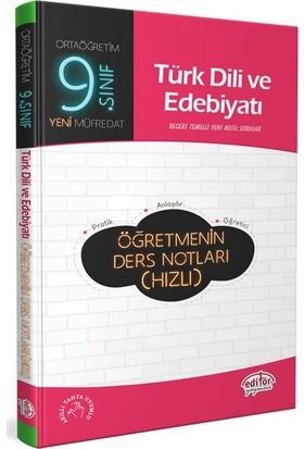 Editör Yayınları 9. Sınıf Türk Dili ve Edebiyatı Öğretmenin Hızlı Ders Notları