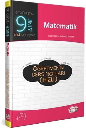 Editör Yayınları 9. Sınıf Matematik Öğretmenin Hızlı Ders Notları