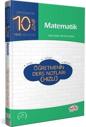 Editör Yayınları 10. Sınıf Matematik Öğretmenin Hızlı Ders Notları